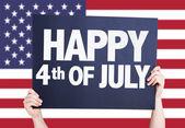 Happy 4th of July card — Stock Photo