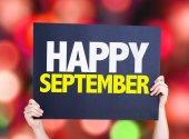 Happy September card — Stock Photo