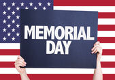 Memorial Day sign — Stock Photo