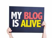 My Blog is Alive card — Stock Photo