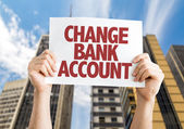 Change Bank Account card — Stock Photo