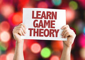 Learn Game Theory card — Stock Photo