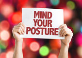 Mind Your Posture card — Stock Photo