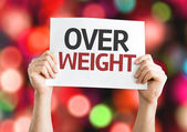 Overweight text card — Stock Photo