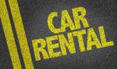 Car Rental on the road — Stock Photo
