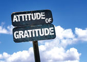 Attitude of Gratitude sign — Stock Photo
