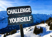 Challenge Yourself sign — Stock Photo