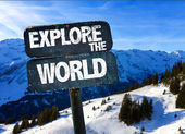 Explore the World sign — Stock Photo