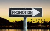 Promotion direction sign — Stock Photo