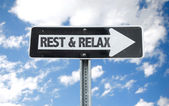 Rest & Relax direction — Stock Photo