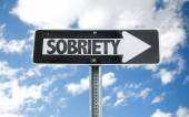 Sobriety direction sign — Stock Photo