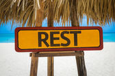 Rest text sign — Stock Photo