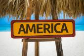 America text sign — Stock Photo