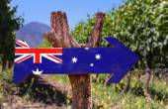 Australia Flag wooden sign — Stock Photo