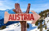 Австрия деревянный знак — Стоковое фото