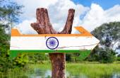 India flag wooden sign — Stock Photo