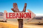 Lebanon wooden sign — Stock Photo