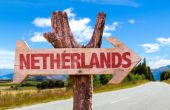 Netherlands wooden sign — Stock Photo