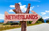 Panneau en bois Pays-Bas — Photo
