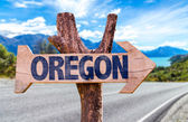 Oregon wooden sign — Stock Photo