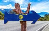 Oregon Flag wooden sign — Stock Photo