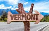 Vermont ahşap işareti — Stok fotoğraf