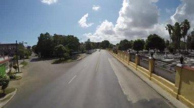 Driving in cemetery Santa Ifigenia — Stock Video