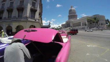 Streets in Old Havana, Cuba — Stock Video