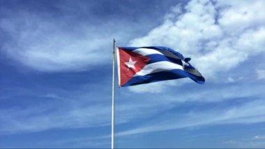 Cuba Waving Flag — Stock Video