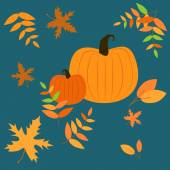 Vector background with pumpkins — Vettoriale Stock