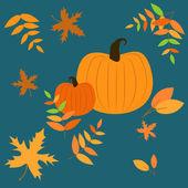 Vector background with pumpkins — Stock Vector