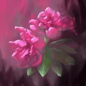 Digitale schilderij bloem blad paars roze — Stockfoto