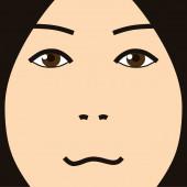 Cartoon face expression simple — Stockfoto