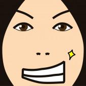 Cartoon face expression handsome — Stockfoto