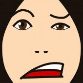 Cartoon face expression eh — Stockfoto