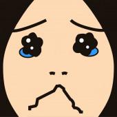 Cartoon gezicht expressie cry — Stockfoto