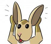 Cartoon animal expression rat hear — Stockfoto