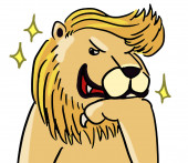 Cartoon dierlijke expressie leeuw pose — Stockfoto