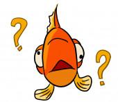 Cartoon dierlijke expressie vis vergeten — Stockfoto