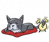 만화 동물 식 고양이 잠 — Stockfoto
