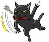 Cartoon dierlijke expressie kat kras — Stockfoto