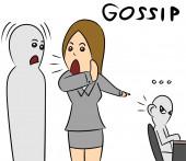 Cartoon woman gossip talk — Stock Photo