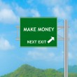 Road Sign concept to Make money — Stock Photo #57977907