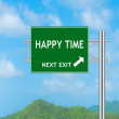 Road Sign concept to HAPPY TIME — Stock Photo #57978397