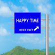 Road Sign concept to HAPPY TIME — Stock Photo #57979089