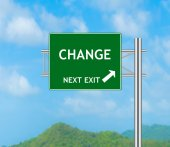 Road Sign concept to CHANGE — Stock Photo