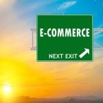 E-commerce Green Road Sign — Stock Photo #58541185
