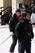 Russian President Vladimir Putin skiing — 图库照片