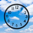 Clock with no hands in cloud — Stock Photo #54720675