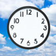 Clock with no hands in cloud — Stock Photo #54720743